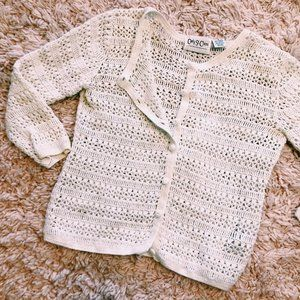 Vintage Carly St. Claire Crocheted Button Cardigan